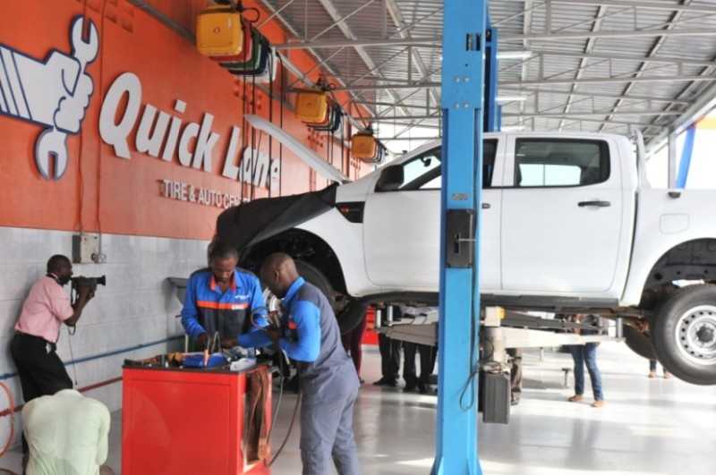 Ford motors quick lane tire auto center launches in for Ford motors service center